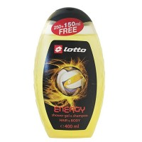 Lotto Shower Gel & Shampoo (Energy) 400 ml LT804