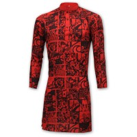 Exclusive Printed Panjabi BA10  Red