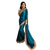 Nirvana Exclusive Dusty Blue Stylish Designer Saree