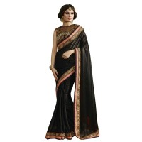 Nirvana Exclusive Black Stylish Designer Saree