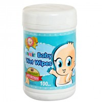 Farlin Baby Wet Wipes - Anti-Bacteria (100pcs)
