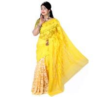 Eid Exclusive Muslin Silk Jamdani Saree TS4847