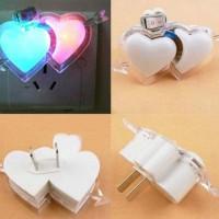 Double Love Heart LED Night Light