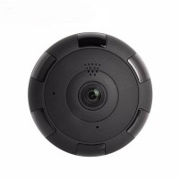 Panoramic Night Vision Wi-Fi IP 360 Degree CC Camera Black