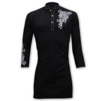 Exclusive Printed Panjabi BA11 Black