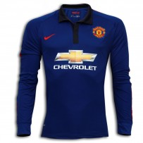 Manchester United Full Sleeve Away Shirt 2014-15 Blue