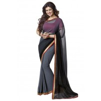 Vinay Exclusive Storm Cloud Printed Chiffon Saree - DO11