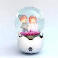 Couple Crystal Ball Night Lamp