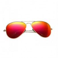 Ray-Ban RB3025 Red Metal Aviator Matte Gold Frame Replica Sunglasses
