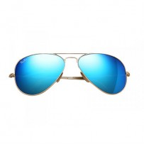 Ray-Ban RB3025 Blue Metal Aviator Matte Gold Frame Replica Sunglasses