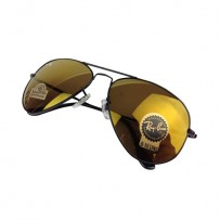 Ray-Ban Aviator RB 3026  Diamond Hard  Brown-Gold Mirror Sunglasses
