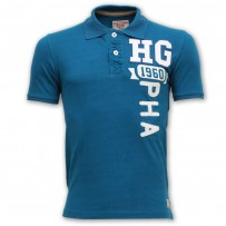Abercrombie & Fitch Polo Shirt SB02P Ocean Blue