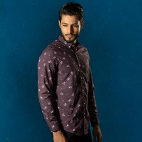 OBTAIN Premium Slim Fit Printed Casual Shirt OL5311