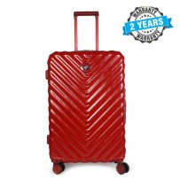 PRESIDENT 26 inch Hard Case Travel Luggage On 4-Wheels Suitcase EARTH RED PBL748