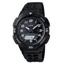 CASIO Youth Combination Analog Black Dial Men's Watch AQ S800W 1BVDF