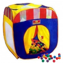 Pop Up Mega Mansion Crown Play Tent With 50 Soft Flex Balls  PCT101