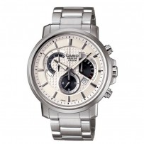 CASIO Men's Beside Silver-Tone Steel Bracelet Watch BEM 506D 7AVDF