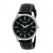 Casio Men's Black Dial Leather Band Watch MTP 1303L 1AVDF