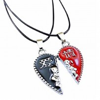 Red and Navy Blue Alloy Love Couple Locket HCL207
