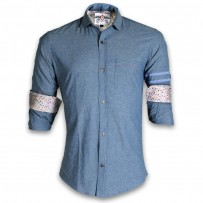 DEVIL Pure Cotton Casual Printed Shirt DE116