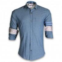 DEVIL Pure Cotton Casual Printed Shirt DE116
