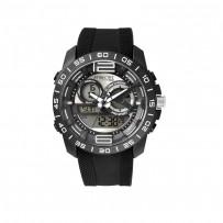 Q&Q DE11J501Y Analog Digital Black Dial Men's Watches