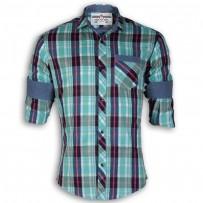 DEVIL Pure Cotton Casual Check Shirt DE122