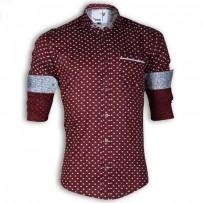 DEVIL Sateen Fabric Casual Ball Printed Shirt DE123