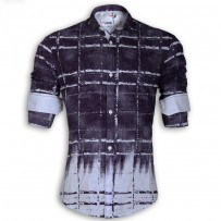 DEVIL Pure Cotton Casual Printed Shirt DE125