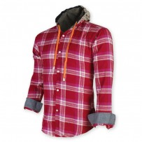 Devil Light Flannel Hooded Shirt DE725
