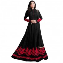 Drashti Dhami Black Georgette Anarkali Suit WF050