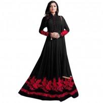 Drashti Dhami Black Georgette Anarkali Suit WF050