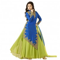 Drashti Dhami Silk Long Anarkali Suit WF069