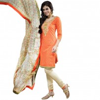 Exclusive Eid Special Orange Embroidery Dwsigner Salwar Suits WF018