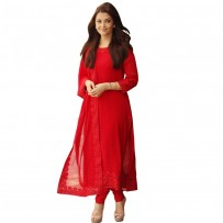 Exclusive Eid Special Indian Georgette Salwar Suit - Red WF079