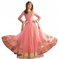 Eid Special Urvashi Rautela Designer Pink Floor Length Anarkali Suits WF003