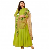 Exclusive Eid Special Madhubala Lime Green Anarkali Suits WF005