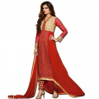 Exclusive Eid Special Designer Red Georget Anarkali Suits WF011
