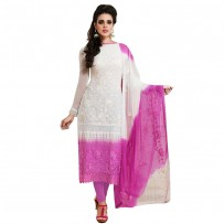 Exclusive Eid Special Designer Pink and White Long Salwar Suit WF015