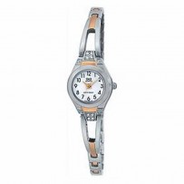 Q&Q F319-204Y Women Watch Wire Metal Silver
