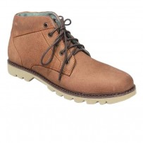 Brown Full Leather Casual Boot FFS405