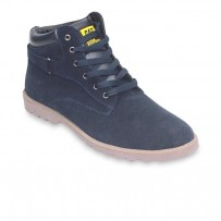Navy Blue Casual Leather Boot FFS412