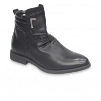 Stylish Black Cowboy Leather Boot FFS413