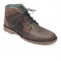 Dark Brown Leather Casual Boot FFS421