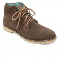 Dark Brown Leather Casual Boot FFS422