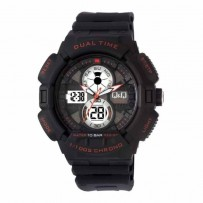 Q&Q GW81J002Y Regular Analog-Digital Black Dial Men's Watch