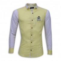 Stylish Printed Cotton Casual Shirt MH28S Lemon Chiffon