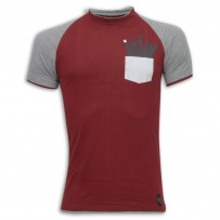 Stylish Round Neck T - Shirt SB06 Maroon