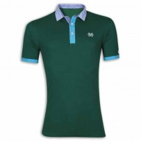 Stylish Polo Shirt YG09P Sea Green