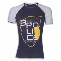Police Round Neck T - Shirt YG026T Mid Night Blue